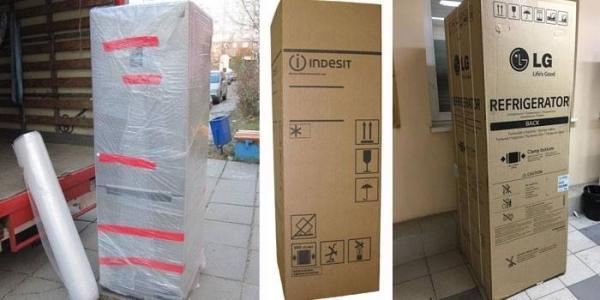 новый запакованный холодильник